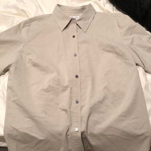 Stone color stretch blouse 14 gently worn